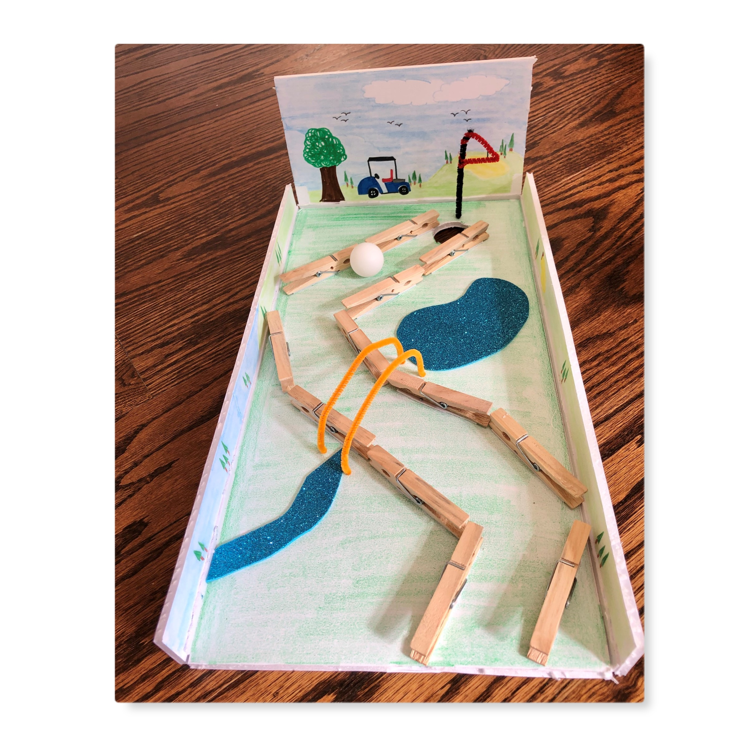 DIY Mini Golf Course Craft Kit