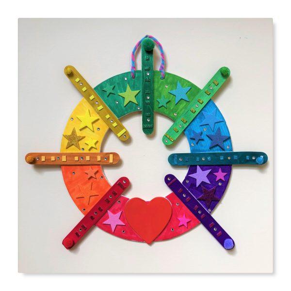 DIY Rainbow Wreath Craft Kit